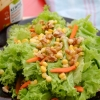 Your Basic Green Salad with Walnuts and Sesame Dressing