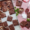 Marshmallow and Strawberry Swirled Brownies Recipe