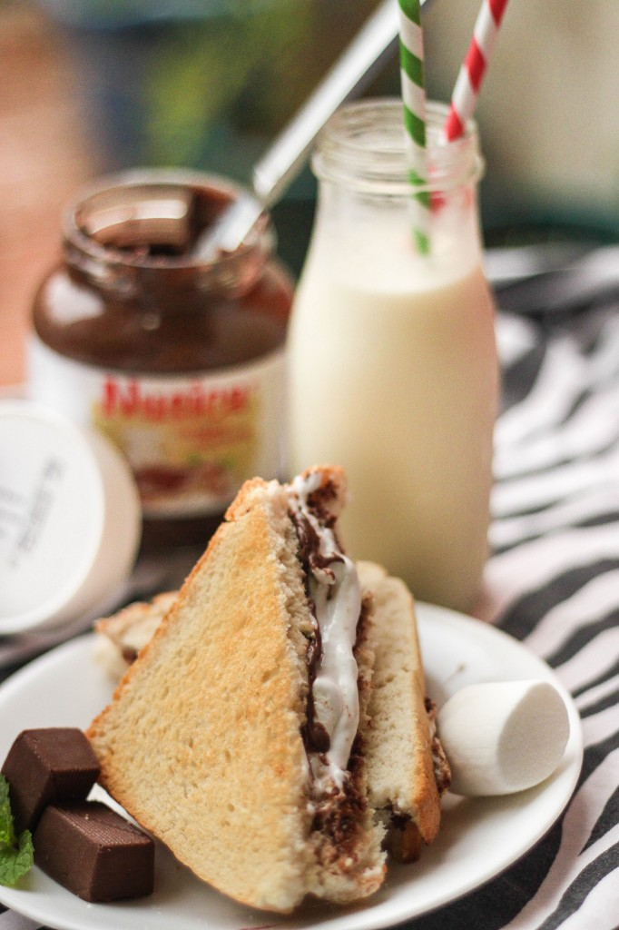 hazelnut and marshmallow sandwich