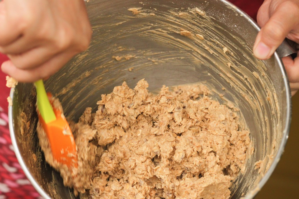 oatmeal cookie mixture