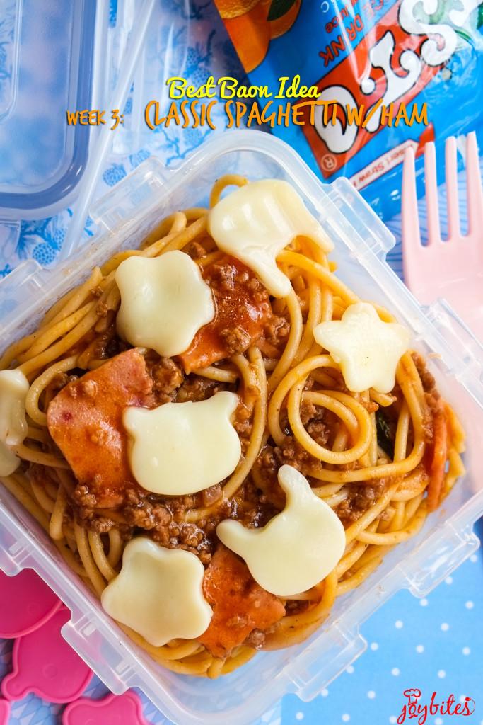 spaghetti with ham