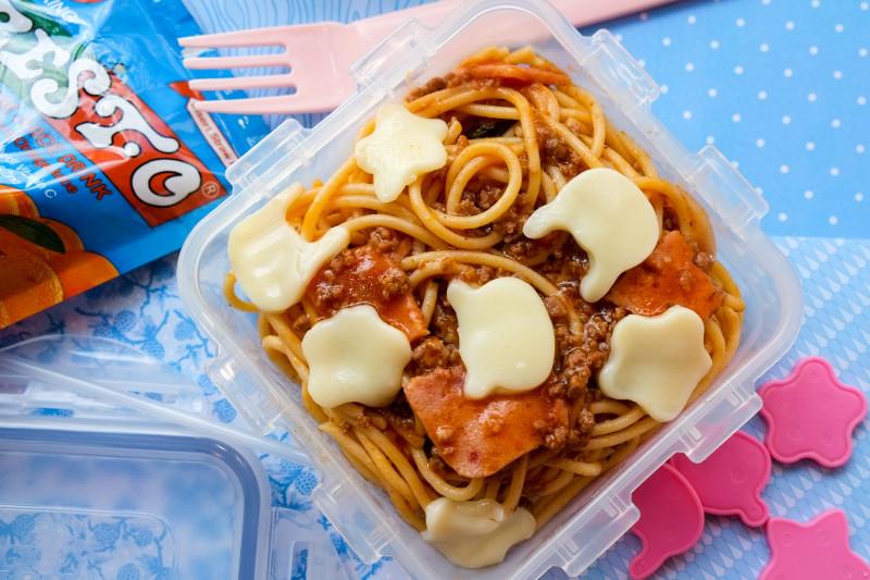spaghetti with king sue ham