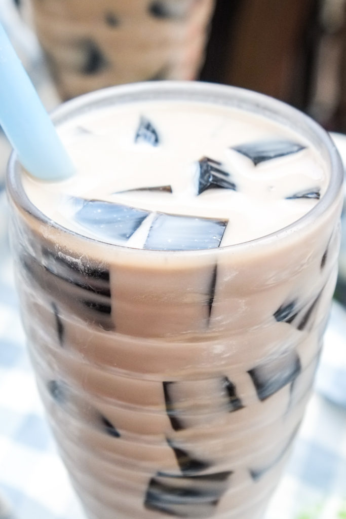Grass Jelly Coconut Milk Tea Recipe